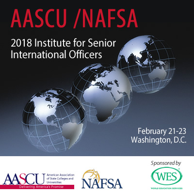2018 AASCU/NAFSA Institute for Senior International Officers
